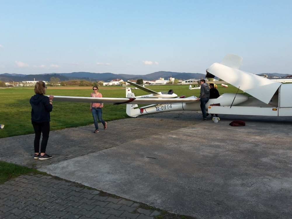 Flugplatz Libelle Frauen