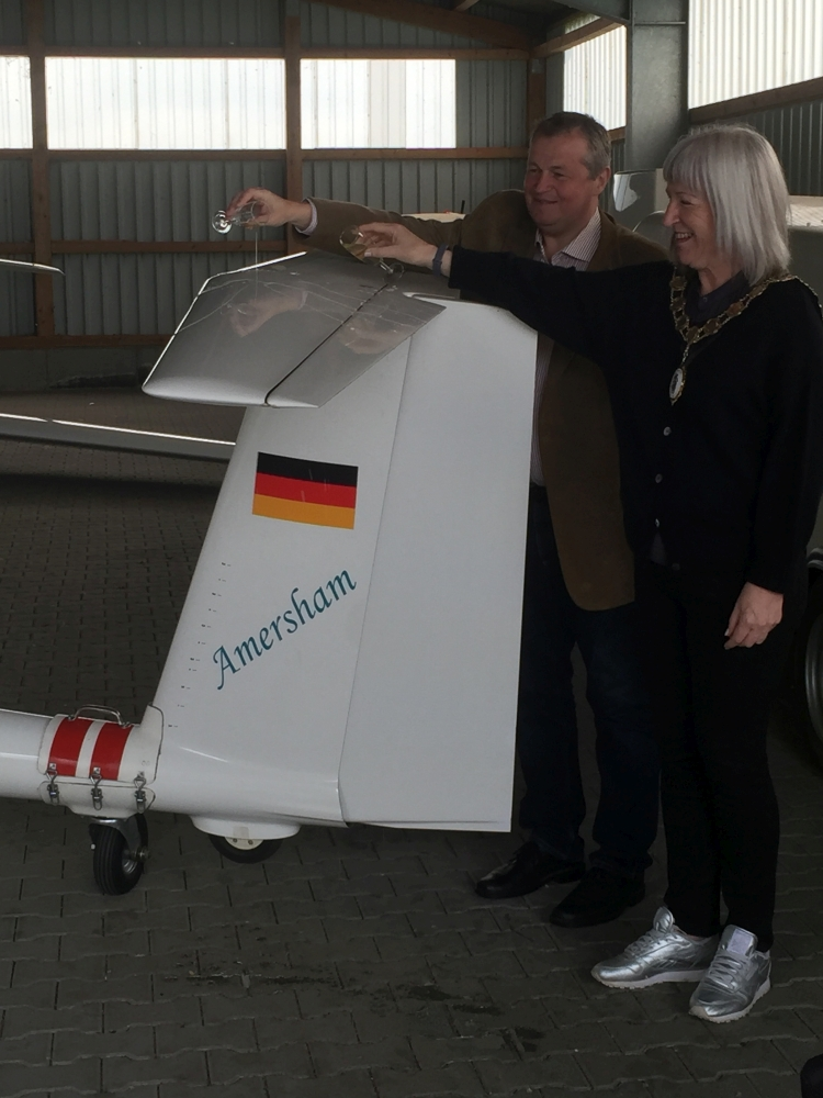 Flugzeugtaufe-Gastgruppe Rolf Richter