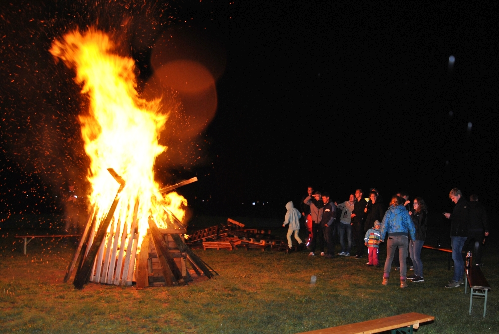 Osterlager Lagerfeuer